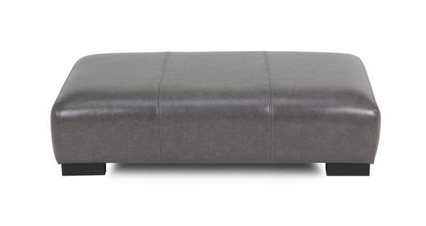 Dillon Leather Large Rectangular Footstool