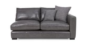 Dillon Leather Right Hand Facing Small Sofa Unit