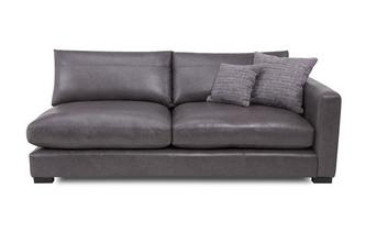 Right Hand Facing Large Sofa Unit Dillon Leather