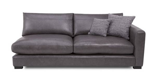 Dillon Leather Right Hand Facing Large Sofa Unit