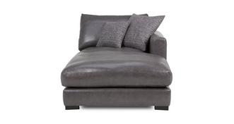Dillon Leather Right Hand Facing Chaise Lounger Unit