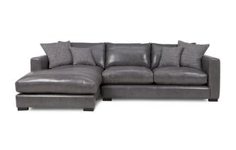 Left Hand Facing Small Chaise End Sofa Dillon Leather
