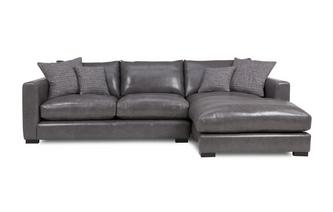Dillon Leather Right Hand Facing Small Chaise End Sofa Dillon Leather