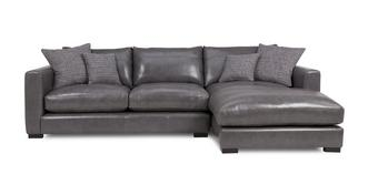 Dillon Leather Right Hand Facing Small Chaise End Sofa