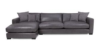 Dillon Leather Grote bank met linkszijdige chaise longue