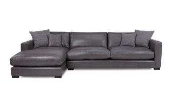 Left Hand Facing Large Chaise End Sofa Dillon Leather