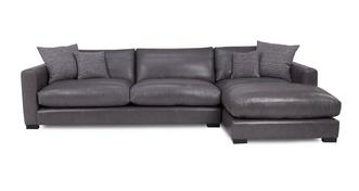 Dillon Leather Grote bank met chaise longue rechts