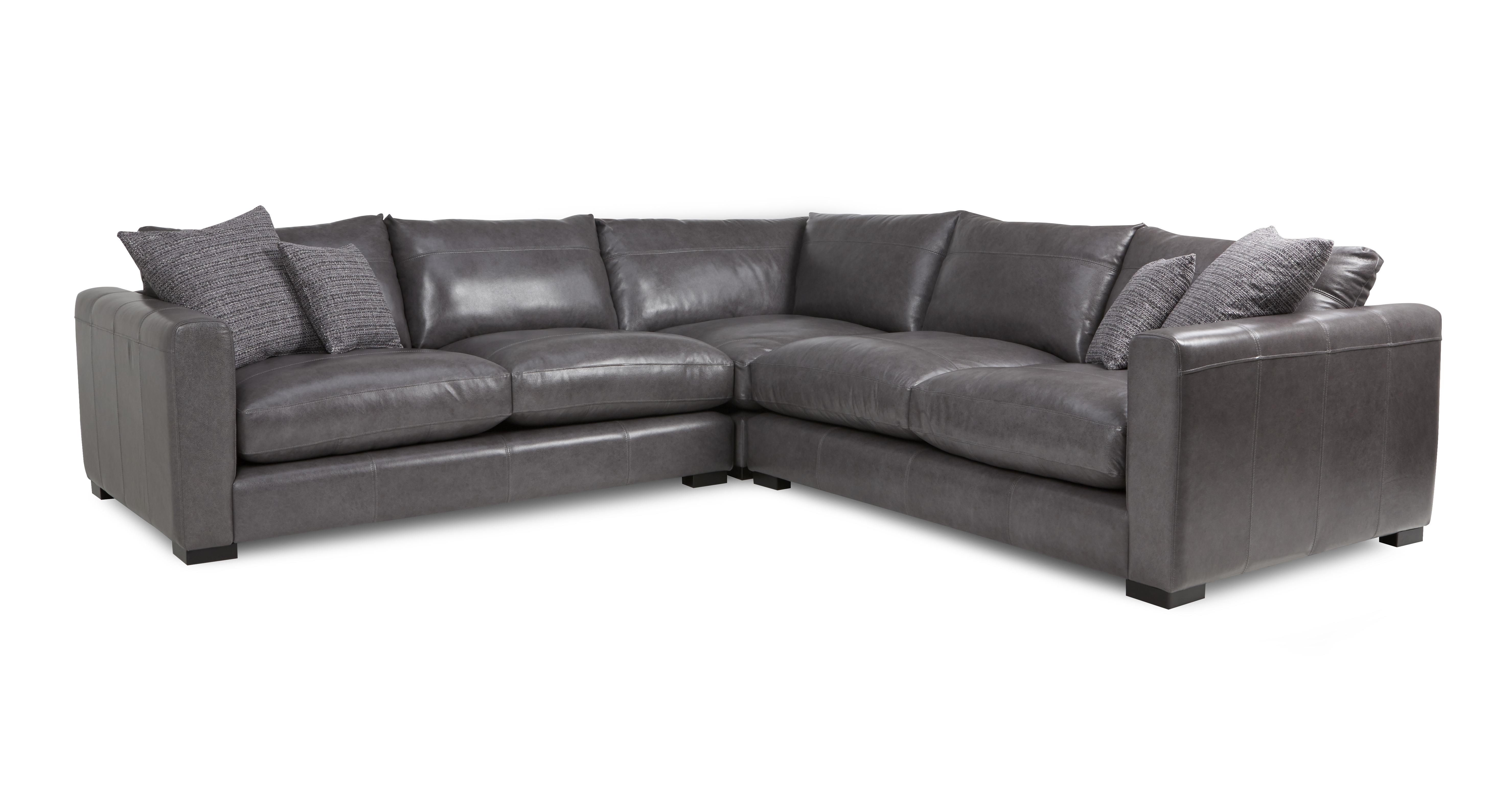 Dillon Leather Small Corner Sofa Dfs