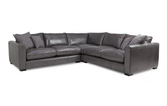 Dillon Leather Small Corner Sofa Dillon Leather