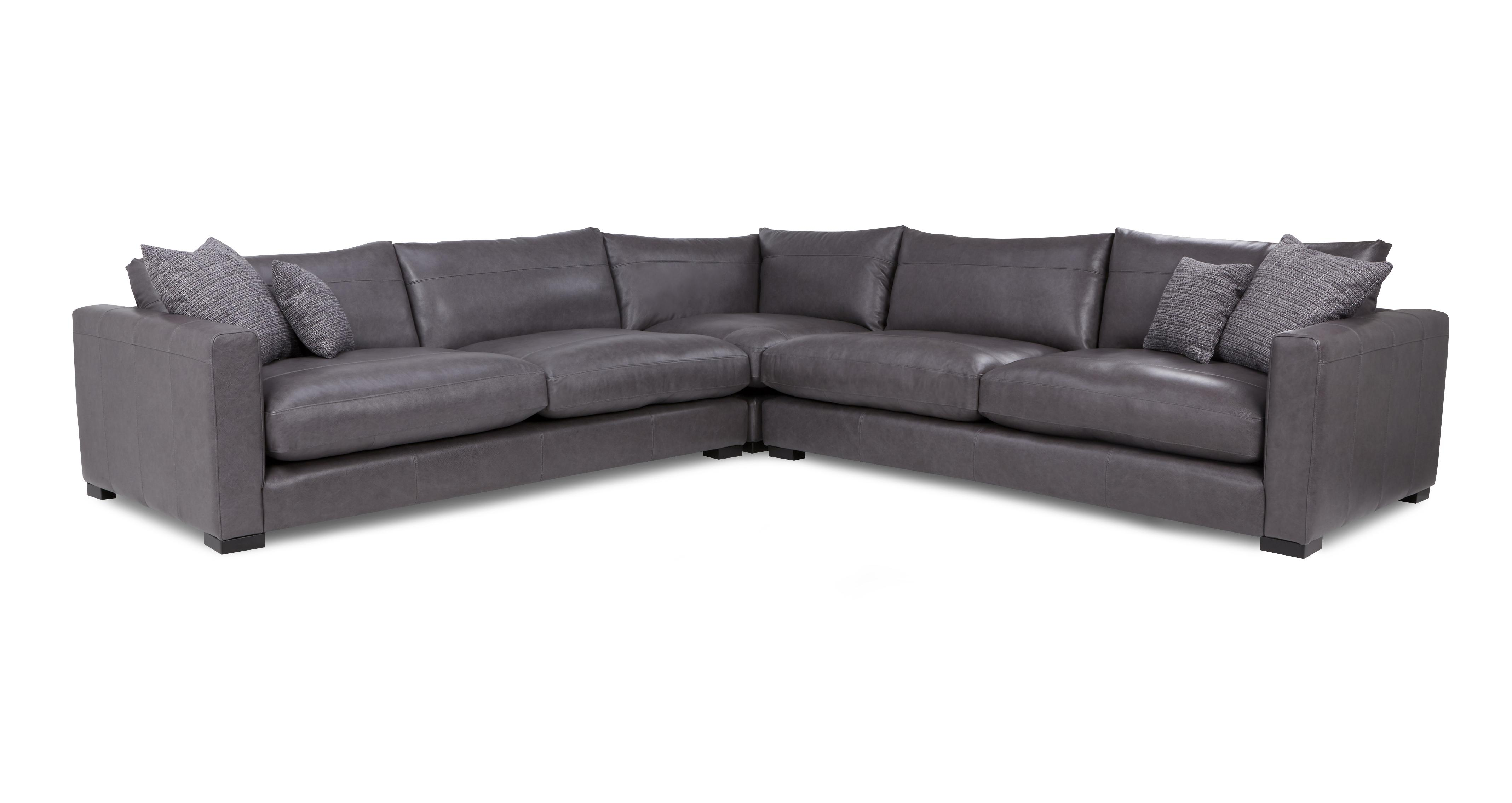 Dillon Leather Large Corner Sofa | DFS