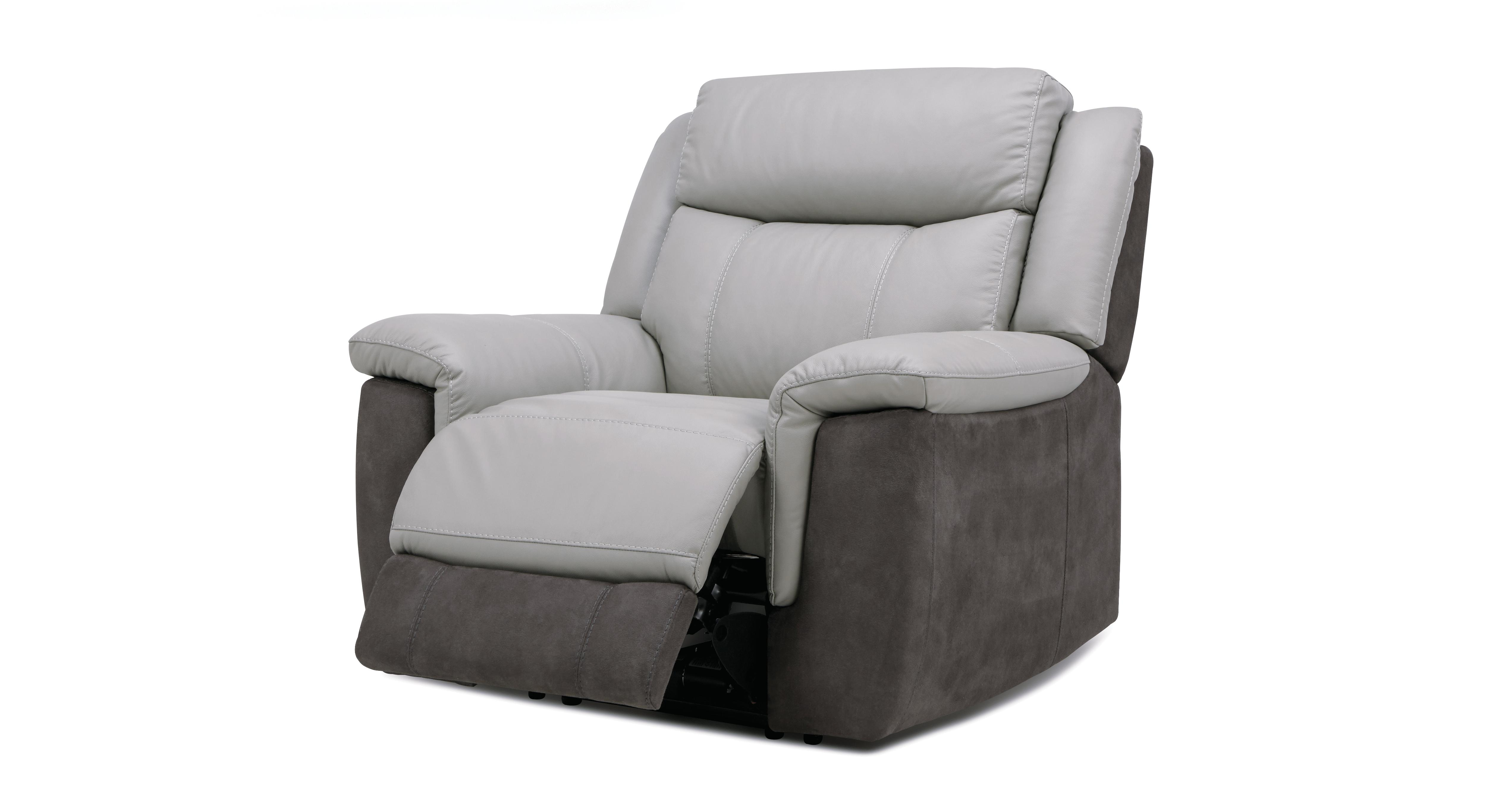 Grey Leather Chair & Dinsdale Power Plus Recliner Chair Sc 1