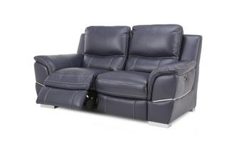 2 Seater Power Recliner New Club Contrast
