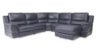 Director Right Hand Facing Power Chaise Corner Sofa