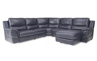 Right Hand Facing Electric Chaise Corner Sofa New Club Contrast