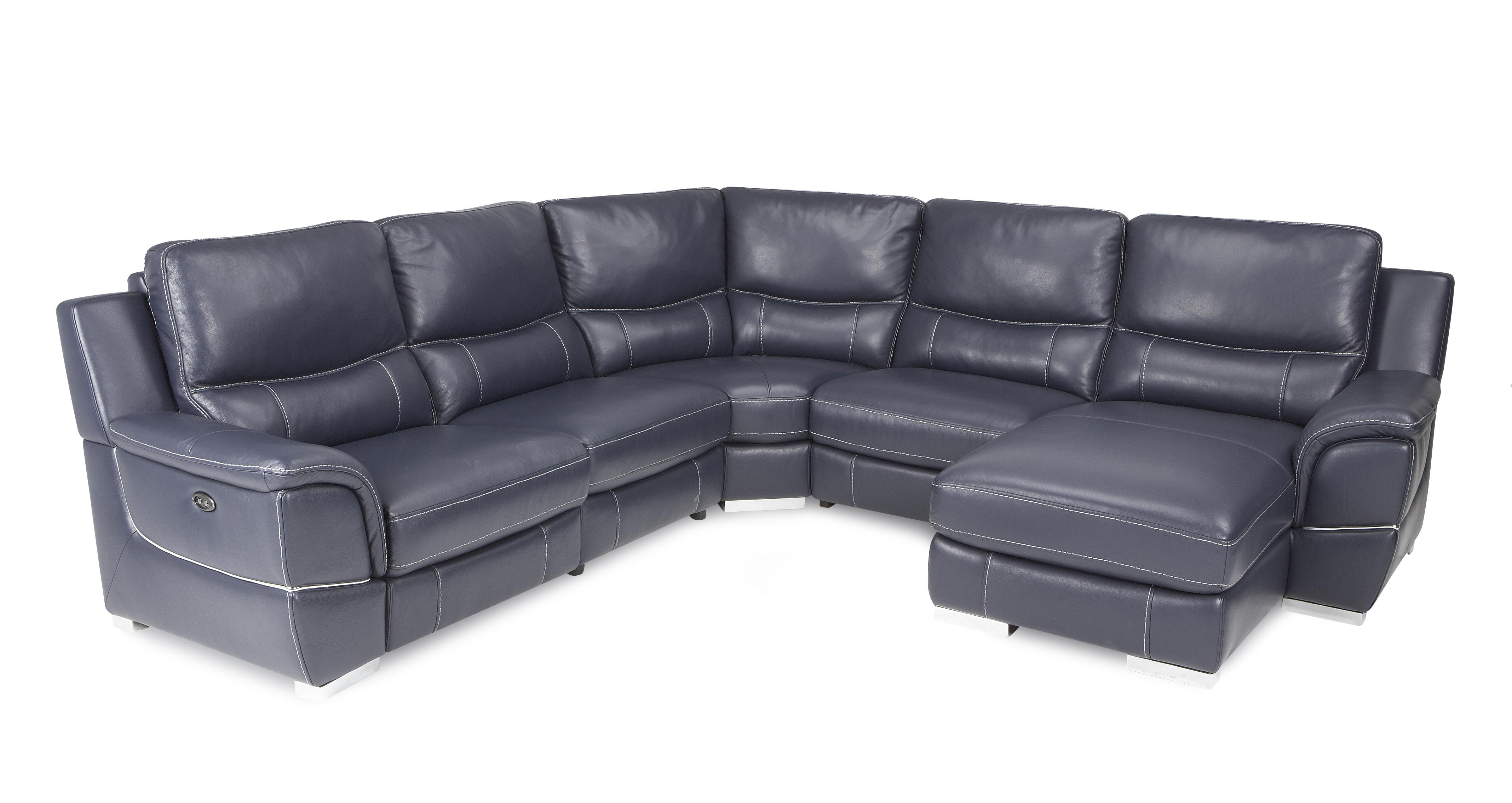 Director Right Hand Facing Electric Chaise Corner Sofa New Club