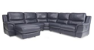 Director Left Hand Facing Power Plus Chaise Corner Sofa