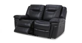 Diversity Leather and Leather Look 2 Seater Manual Recliner