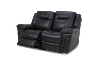 Leather and Leather Look 2 Seater Electric Recliner Premium