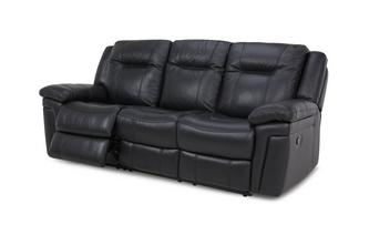 Leather and Leather Look 3 Seater Manual Recliner