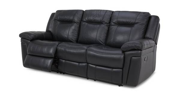 Diversity Leather and Leather Look 3 Seater Manual Recliner