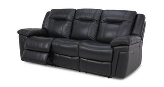 Diversity Leather and Leather Look 3 Seater Electric Recliner