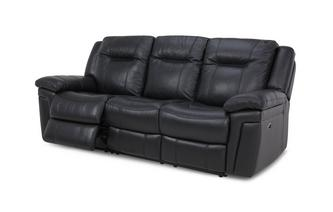 Leather and Leather Look 3 Seater Electric Recliner Premium