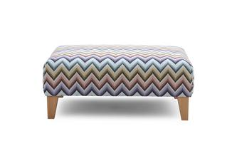 Dixy Pattern Banquette Footstool Zapp Pattern