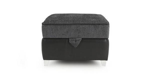 Dolcetto Plain Top Storage Footstool