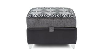 Dolcetto Pattern Top Storage Footstool
