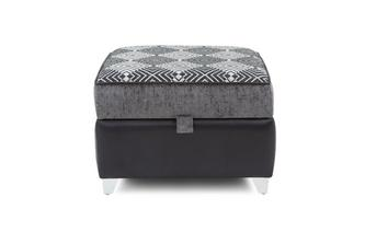Pattern Top Storage Footstool Dolcetto