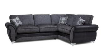 Dolcetto Left Hand Facing 3 Seater Formal Back Corner Sofa
