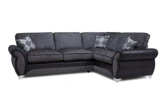 Left Hand Facing 3 Seater Formal Back Corner Sofa Dolcetto