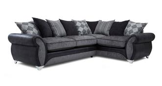 Dolcetto Left Hand Facing 3 Seater Pillow Back Corner Sofa