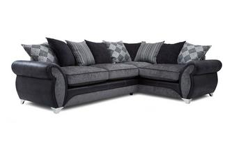Left Hand Facing 3 Seater Pillow Back Corner Sofa Dolcetto