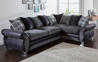 Dolcetto Left Hand Facing 3 Seater Pillow Back Corner Sofa Dolcetto