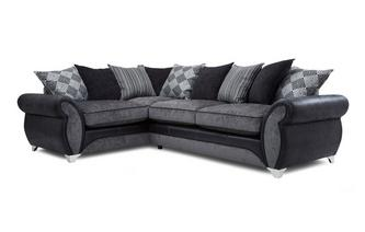 Right Hand Facing 3 Seater Pillow Back Corner Sofa Dolcetto