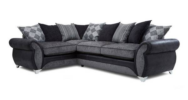 Dolcetto Right Hand Facing 3 Seater Pillow Back Corner Sofa