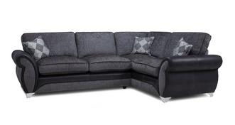Dolcetto Left Hand Facing Formal Back Deluxe Corner Sofa Bed