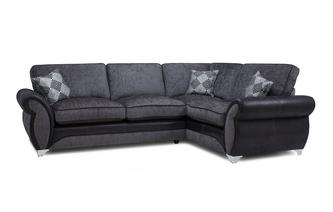Left Hand Facing Formal Back Deluxe Corner Sofa Bed Dolcetto