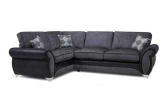 Right Hand Facing Formal Back Deluxe Corner Sofa Bed Dolcetto