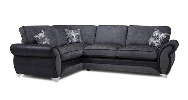 Dolcetto Right Hand Facing Formal Back Deluxe Corner Sofa Bed