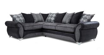 Dolcetto Right Hand Facing Pillow Back Deluxe Corner Sofa Bed