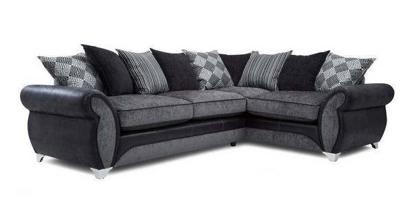 Dolcetto Left Hand Facing Pillow Back Supreme Corner Sofa Bed
