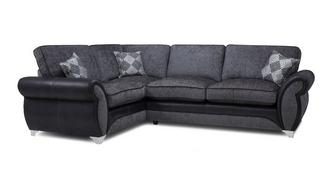 Dolcetto Right Hand Facing Formal Back Supreme Corner Sofa Bed