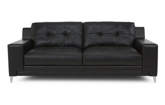Leather and Leather Look 3 Seater Sofa