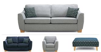 Dominique Clearance 4 & 2 Seater Sofa, Chair & Stool