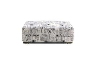 Pattern Banquette Footstool Lotus Scatter