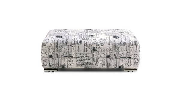 Dora Pattern Banquette Footstool
