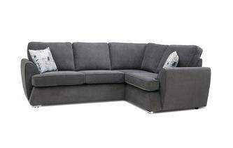 Left Hand Facing 2 Seater Corner Sofa Plaza