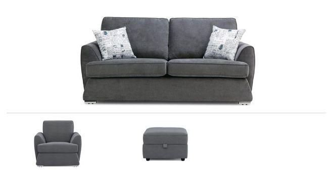 Excellent Dora Clearance 3 Seater Sofa Chair Stool Machost Co Dining Chair Design Ideas Machostcouk